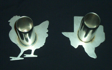 Inventor - welder Jaime Fischer makes roasting roosts that are better than a beer can - email him at  jfischer2@cox.net
